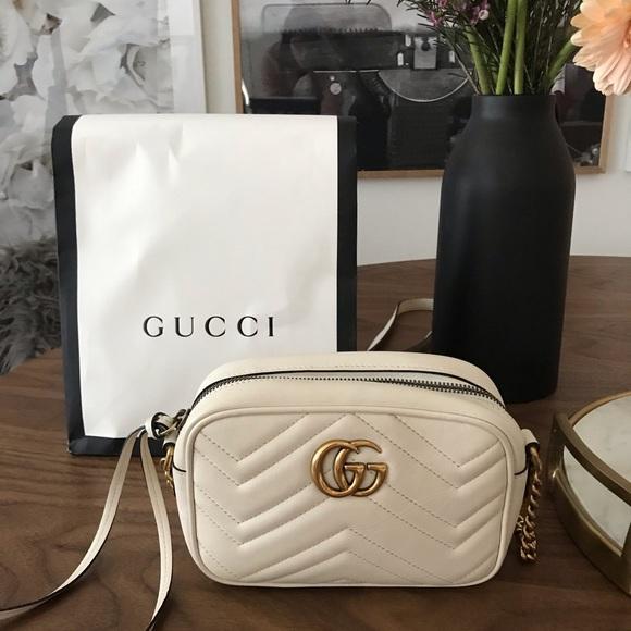 Gucci Marmont Mini Camera Bag White 57 Off Newriversidehotel Com